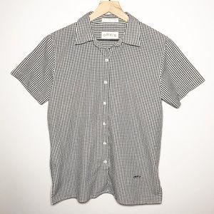 Orvis Size 10 Gingham Short Sleeve Button Shirt